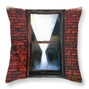 Umbilical Cord To The Outside Throw Pillow