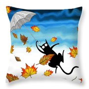 Umbrella Throw Pillow by Andrew Hitchen