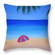 Umbrella For Rosy Throw Pillow