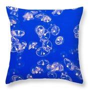 Umbrella Jellyfish Throw Pillow