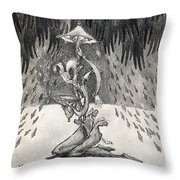 Umbrella Moon Throw Pillow