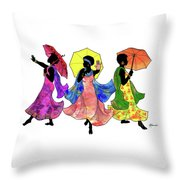 Umbrella Strut Throw Pillow