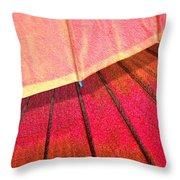 Umbrella Sunrise Throw Pillow