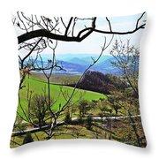 Umbria Mountains Throw Pillow