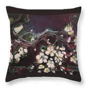 Ume Blossoms Throw Pillow