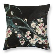 Ume Blossoms2 Throw Pillow