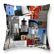 Umpqua River Lighthouse Collection Throw Pillow