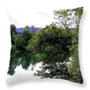 Umpqua River Throw Pillow