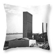 Un Building Under Construction Throw Pillow