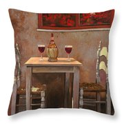 un fiasco di Chianti Throw Pillow by Guido Borelli