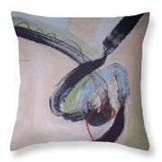 Unaccustomed Thought-abstract Art Throw Pillow