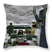Unblessed R The Unmerciful Throw Pillow