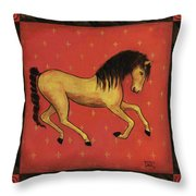 Unbridled ... From The Tapestry Series Throw Pillow