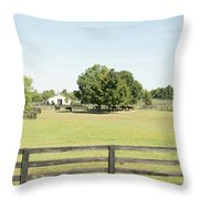 Unbridled Farm Throw Pillow