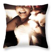 Unbridled Joy Throw Pillow