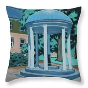 Unc Old Well Throw Pillow