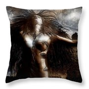 Unchain My Heart Throw Pillow by Carol Cavalaris