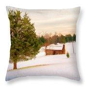 Uncle Bob's Cabin Throw Pillow