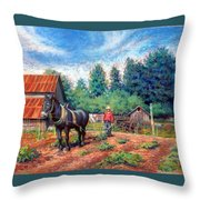 Uncle Frank And Bully Throw Pillow