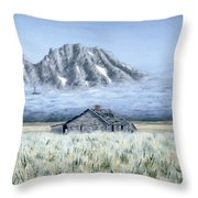 Uncle John's Cabin Throw Pillow