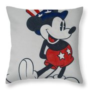 Uncle Mickey Throw Pillow