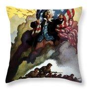 Uncle Sam - Buy War Bonds Throw Pillow