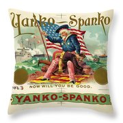 Uncle Sam Cigar Label Throw Pillow