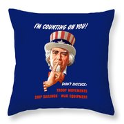Uncle Sam - I'm Counting On You Throw Pillow by War Is Hell Store