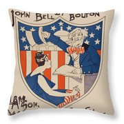 Uncle Sam's Church Throw Pillow