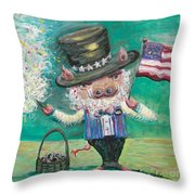 Uncle Spam Throw Pillow