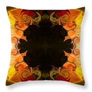 Undecided Bliss Abstract Healing Artwork By Omaste Witkowski Throw Pillow