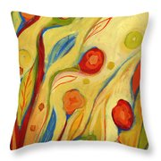 Under A Sky Of Peaches And Cream Throw Pillow by Jennifer Lommers