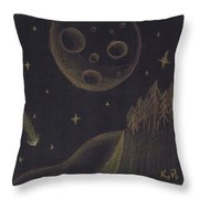 Under Alien Atars Throw Pillow