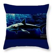 Under Blue Sea Throw Pillow