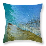 Under Breaking Wave Throw Pillow