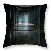 Under Clark Bridge Throw Pillow