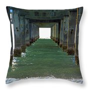 Under Clearwater Pier 60 Throw Pillow