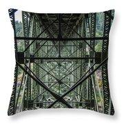 Under Deception Pass Bridge Throw Pillow