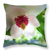 Under Flower Throw Pillow