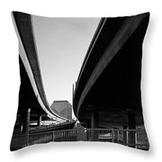 Under Interstate 5 Sacramento Throw Pillow