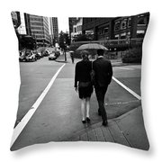 Under One Roof- By Linda Woods Throw Pillow