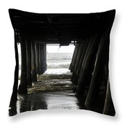 Under Santa Monica Pier Throw Pillow