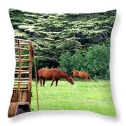Under The Albesias Throw Pillow