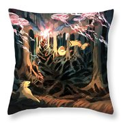 Under The Bayou Throw Pillow