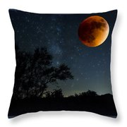 Under The Blood Moon  Throw Pillow