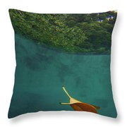 Under The Blue Throw Pillow