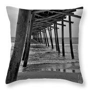 Under The Boardwalk Alantic Beaches Nc Throw Pillow