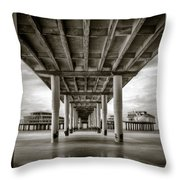 Under The Boardwalk Throw Pillow by Dave Bowman