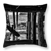 Under The Boardwalk Throw Pillow by Tommy Anderson