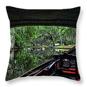 Under The Bridge Painted Throw Pillow